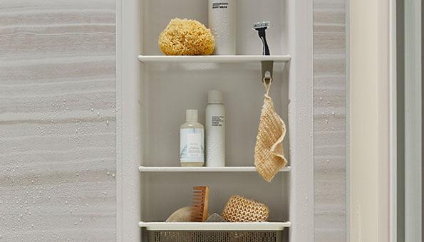 LuxStone Shower Shelving