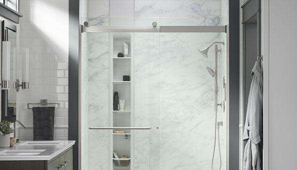 LuxStone Shower Sliding Glass Doors